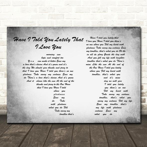 Van Morrison Have I Told You Lately That I Love You Man Lady Couple Grey Print