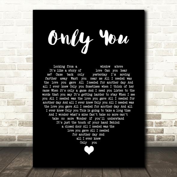 Yazoo Only You Black Heart Song Lyric Print