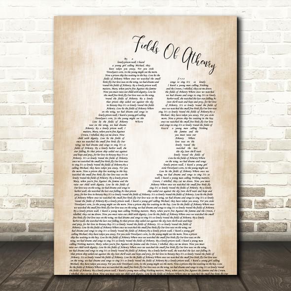 Dropkick Murphys Fields Of Athenry Man Lady Bride Groom Wedding Song Lyric Quote Music Print