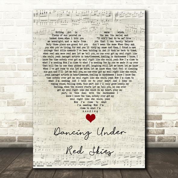 Dermot Kennedy Dancing Under Red Skies Script Heart Song Lyric Quote Music Print