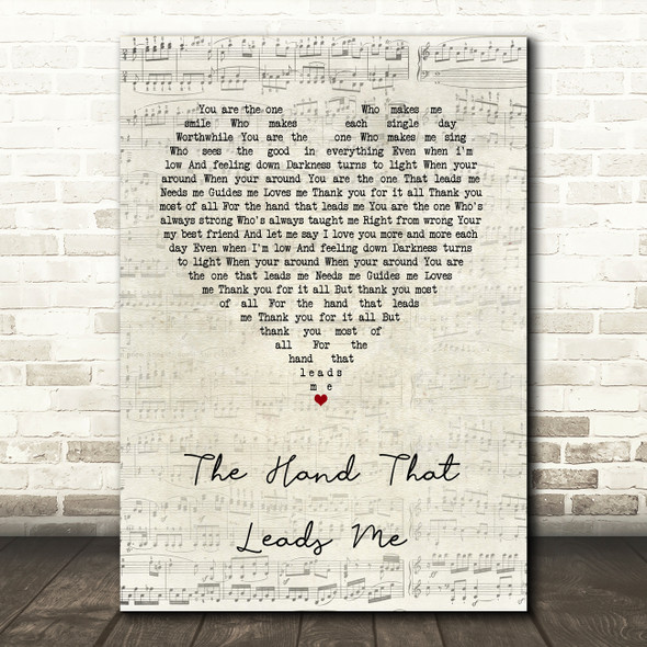 Jane McDonald The Hand That Leads Me Script Heart Song Lyric Quote Music Print