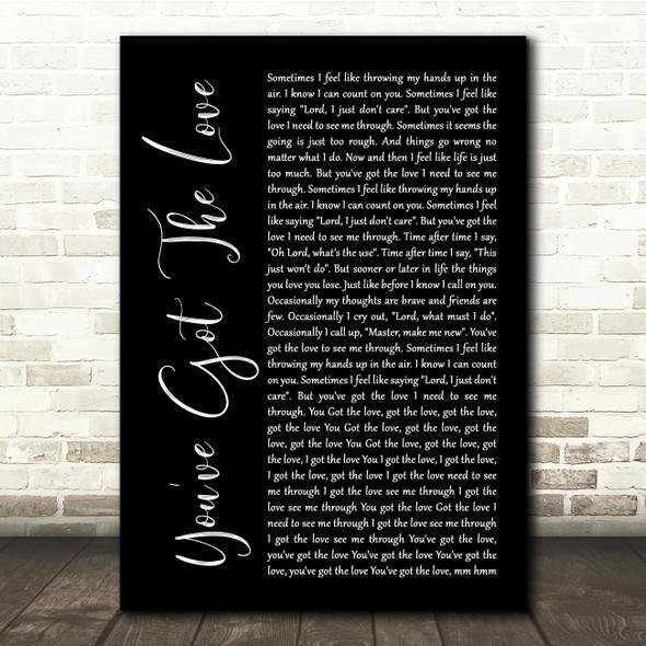 Candi Staton You've Got The Love Black Script Song Lyric Quote Music Print