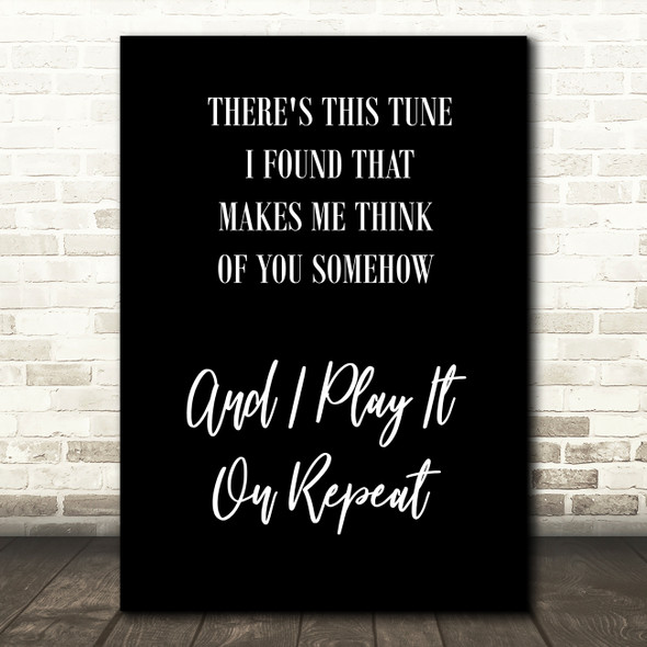 Black Do I Wanna Know Arctic Monkeys White Black Song Lyric Quote Print