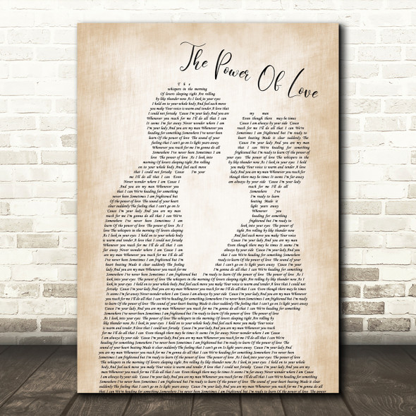 Celine Dione The Power Of Love Man Lady Bride Groom Wedding Song Lyric Quote Print