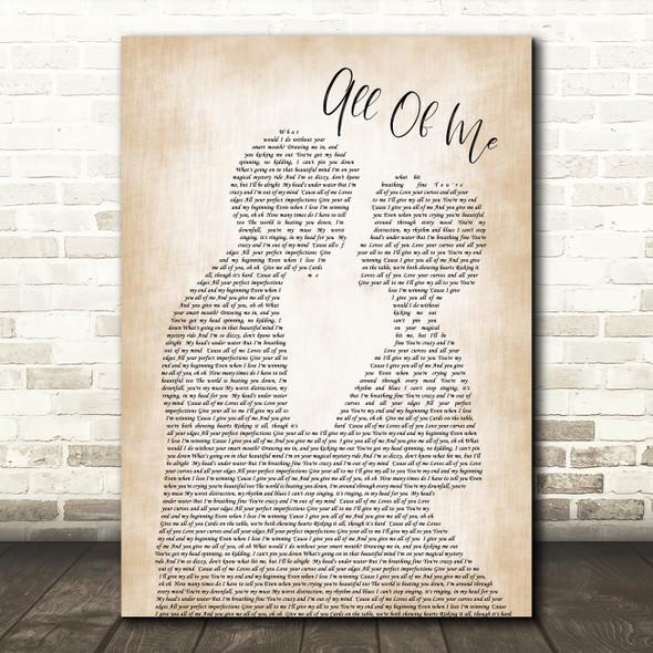 John Legend All Of Me Song Lyric Man Lady Bride Groom Wedding Print