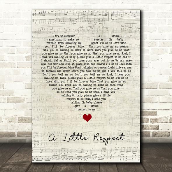 Erasure A Little Respect Script Heart Song Lyric Quote Music Print