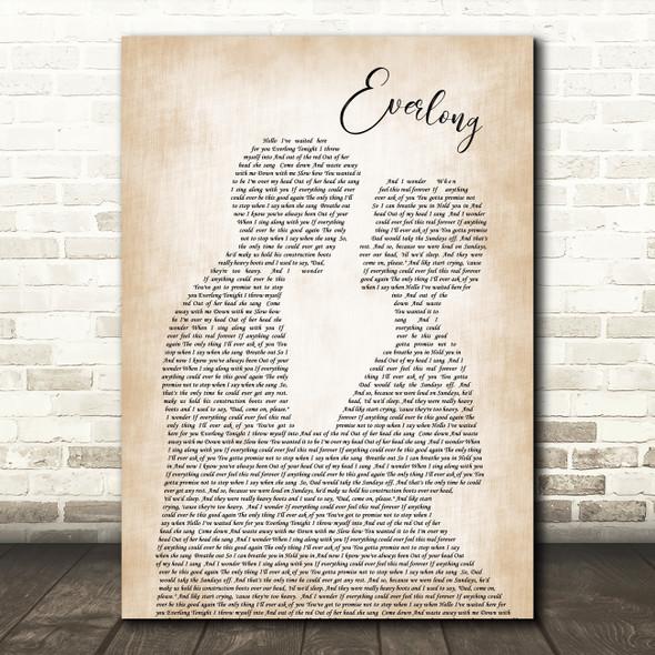 Foo Fighters Everlong Song Lyric Man Lady Bride Groom Wedding Print