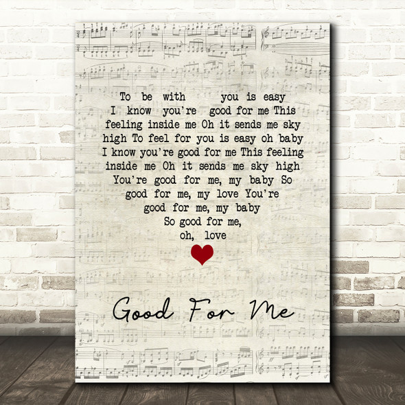 Above & Beyond Good For Me Script Heart Song Lyric Quote Music Print