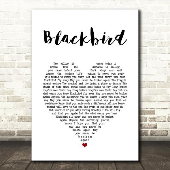 Alter Bridge Blackbird White Heart Song Lyric Quote Music Print