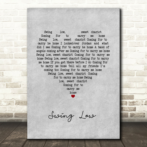 UB40 Swing Low Grey Heart Song Lyric Quote Music Print