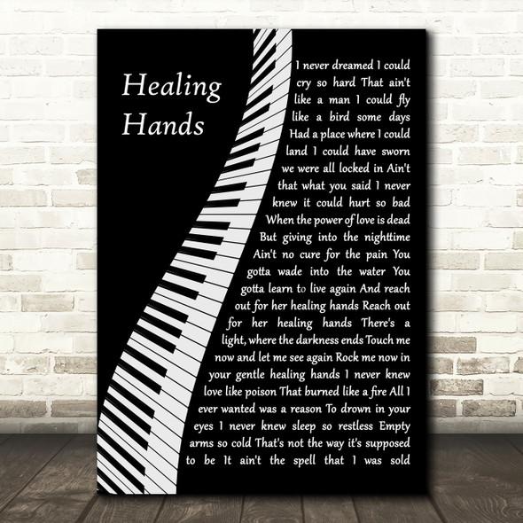 Elton John Healing Hands Piano Song Lyric Quote Music Print