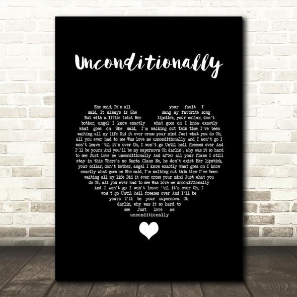 James Arthur Unconditionally Black Heart Song Lyric Wall Art Print