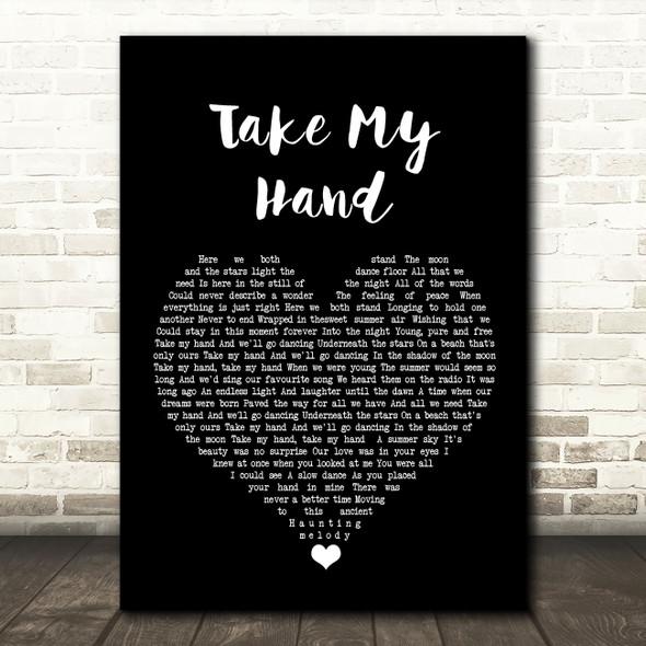 Skerryvore Take My Hand Black Heart Song Lyric Wall Art Print