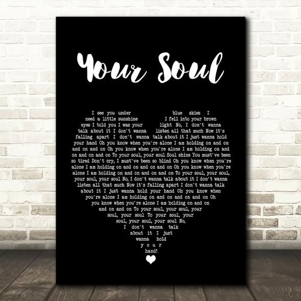 Rhodes Your Soul Black Heart Song Lyric Wall Art Print