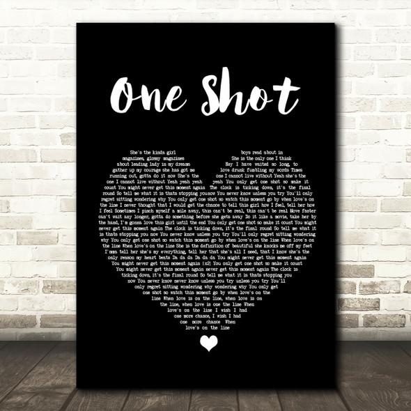 JLS One Shot Black Heart Song Lyric Wall Art Print