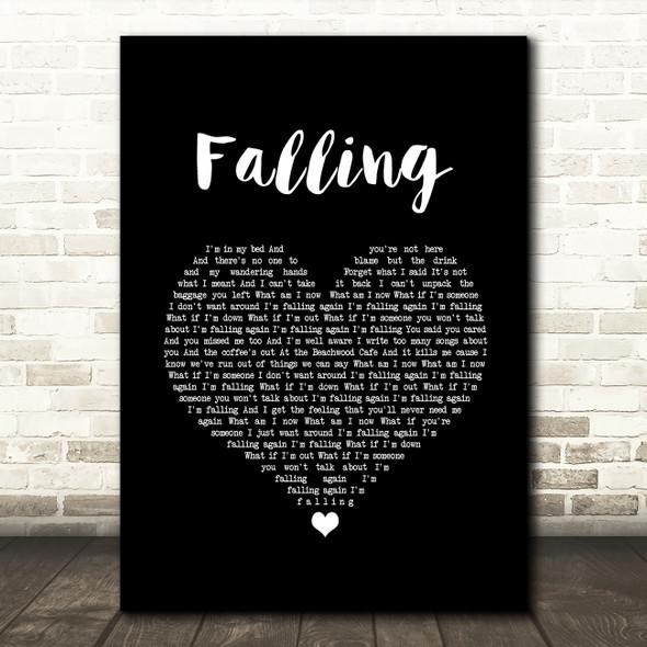 Harry Styles Falling Black Heart Song Lyric Wall Art Print