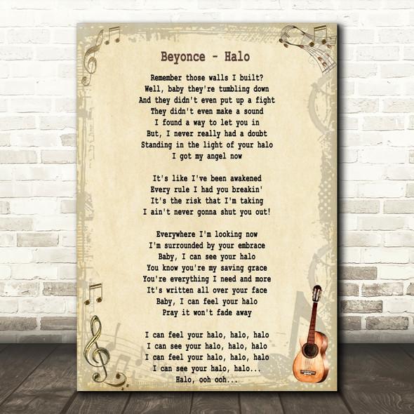 Beyonc?® Halo Song Lyric Quote Print