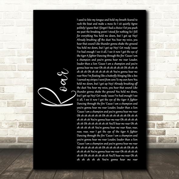 Katy Perry Roar Black Script Song Lyric Wall Art Print