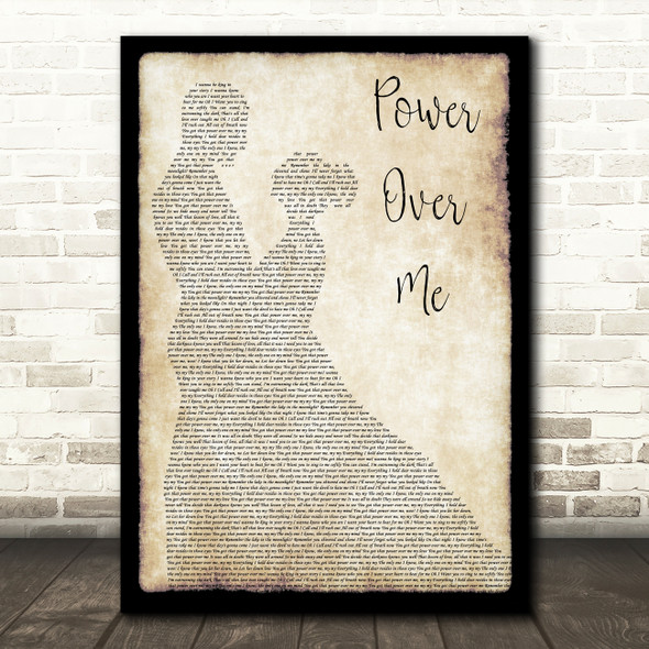 Dermot Kennedy Power Over Me Man Lady Dancing Song Lyric Wall Art Print