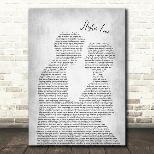 Depeche Mode Higher Love Man Lady Bride Groom Wedding Grey Song Lyric Wall Art Print