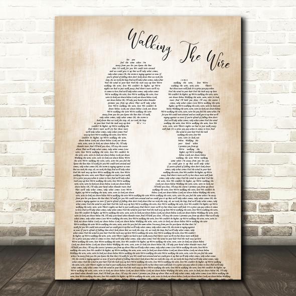 Imagine Dragons Walking The Wire Man Lady Bride Groom Wedding Song Lyric Wall Art Print