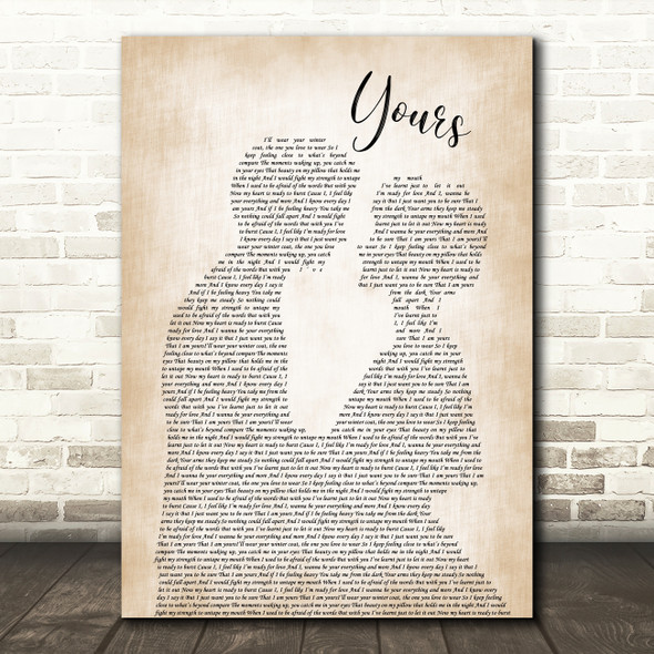 Ella Henderson Yours Man Lady Bride Groom Wedding Song Lyric Wall Art Print