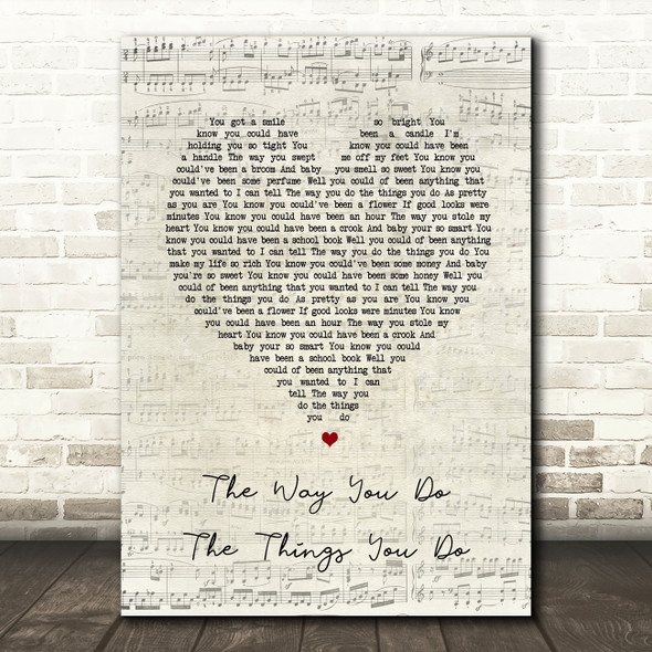 UB40 The Way You Do The Things You Do Script Heart Song Lyric Wall Art Print
