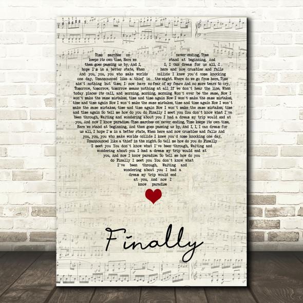 Kings of Tomorrow Finally Script Heart Song Lyric Wall Art Print