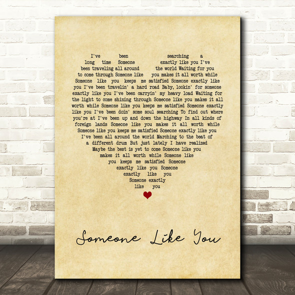 Van Morrison Someone Like You Vintage Heart Song Lyric Quote Print