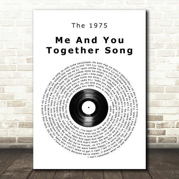 The 1975 Me And You Together Song Vinyl Record Song Lyric Wall Art Print