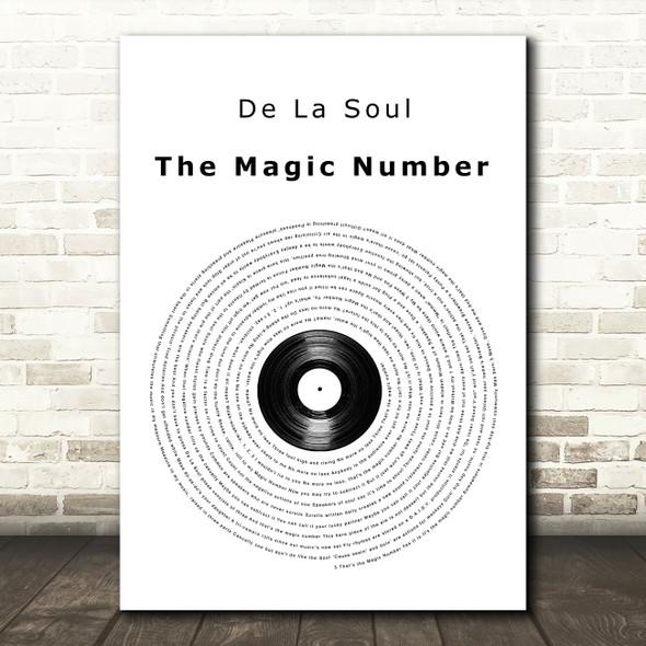 De La Soul The Magic Number Vinyl Record Song Lyric Wall Art Print