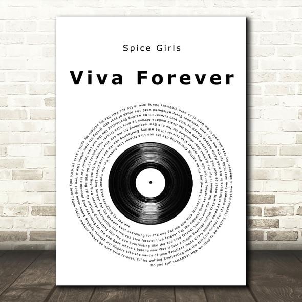 Spice Girls Viva Forever Vinyl Record Song Lyric Wall Art Print