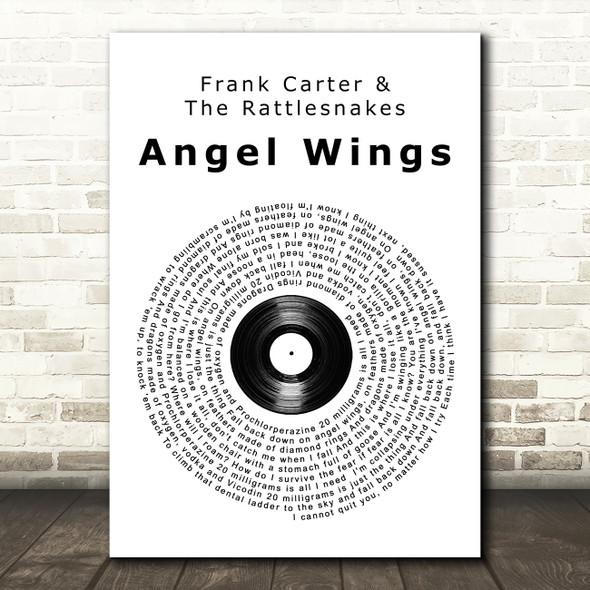 Frank Carter & The Rattlesnakes Angel Wings Vinyl Record Song Lyric Wall Art Print