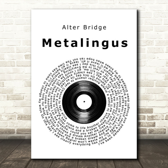 Alter Bridge Metalingus Vinyl Record Song Lyric Wall Art Print