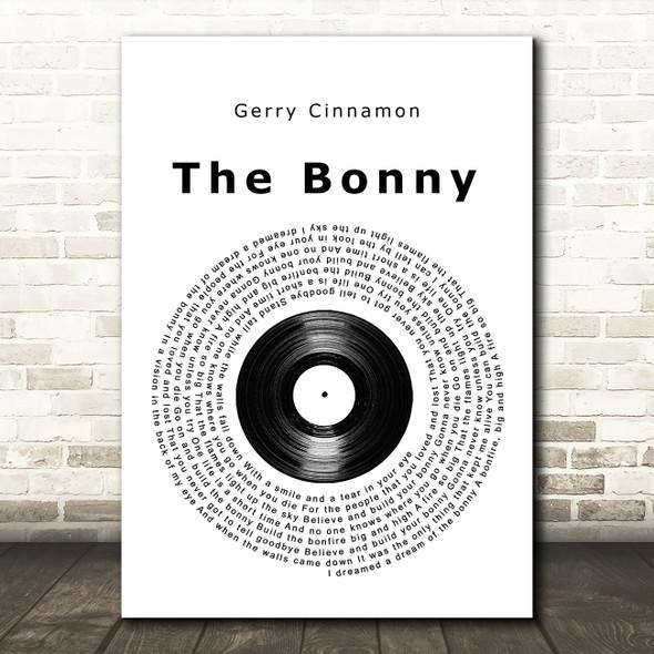 Gerry Cinnamon The Bonny Vinyl Record Song Lyric Wall Art Print
