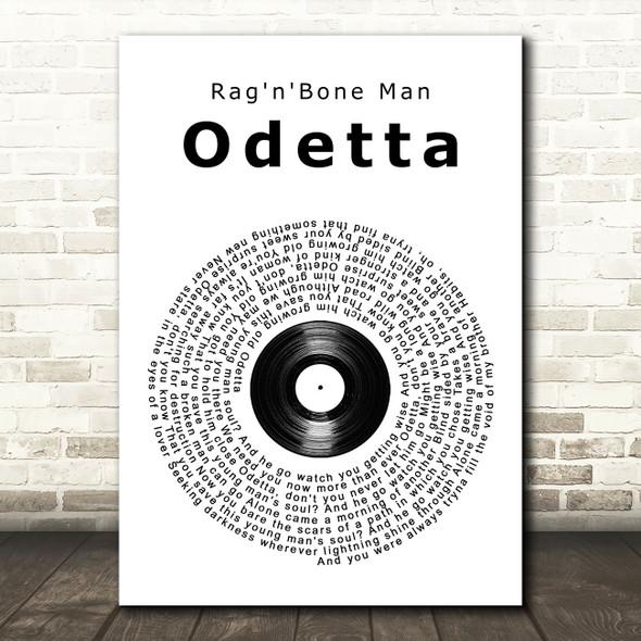 Rag'n'Bone Man Odetta Vinyl Record Song Lyric Wall Art Print