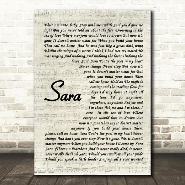 Fleetwood Mac Sara Quote Song Lyric Print