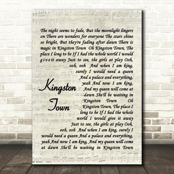 UB40 Kingston Town Quote Song Lyric Print