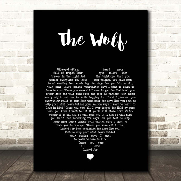 Mumford & Sons The Wolf Black Heart Song Print