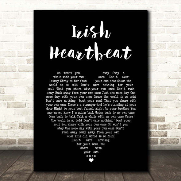 Van Morrison Irish Heartbeat Black Heart Song Lyric Print