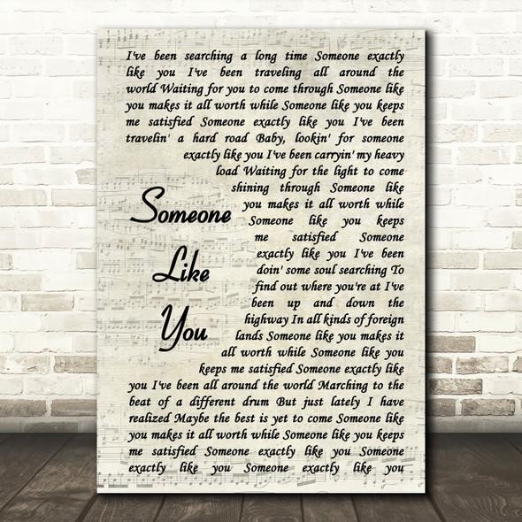 Van Morrison Someone Like You Song Lyric Vintage Script Quote Print