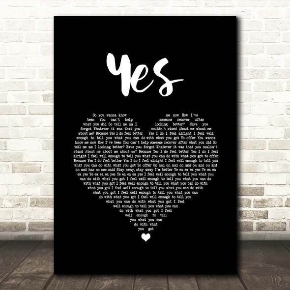 McAlmont & Butler Yes Black Heart Song Lyric Print