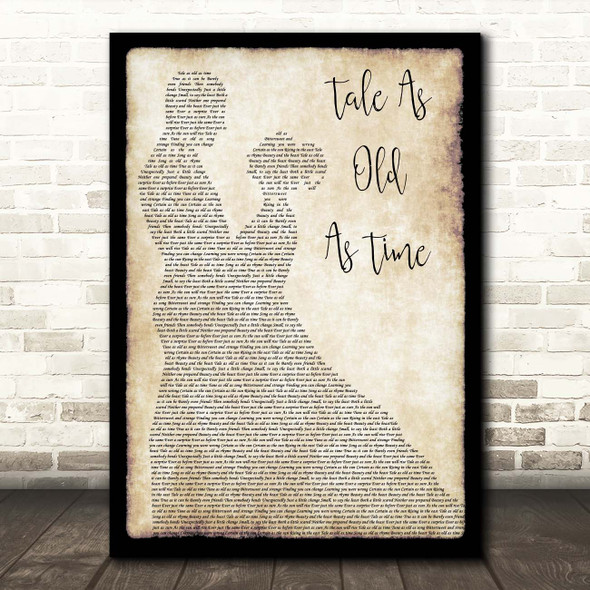 Celine Dion and Peabo Bryson Tale As Old As Time Man Lady Dancing Song Lyric Print