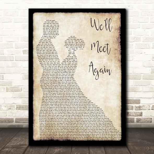 Vera Lynn Well Meet Again Man Lady Dancing Song Lyric Print