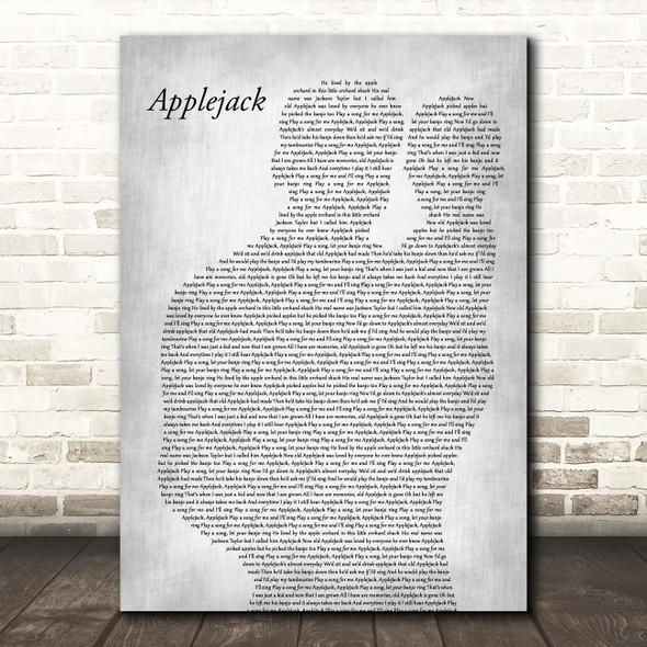 Dolly Parton Applejack Father & Baby Grey Song Lyric Print