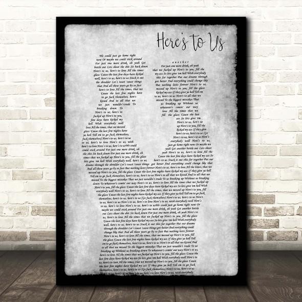 Halestorm Here's To Us Gay Couple Two Men Dancing Grey Song Lyric Print