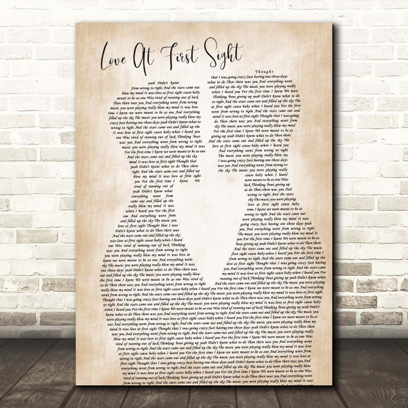 Kylie Minogue Love At First Sight Two Men Gay Couple Wedding Song Lyric Print