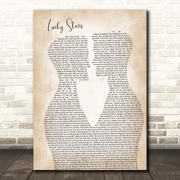 Lucy Spraggan Lucky Stars Two Men Gay Couple Wedding Song Lyric Print