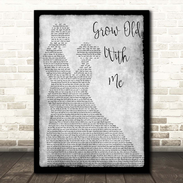 Tom Odell Grow Old With Me Grey Man Lady Dancing Song Lyric Print