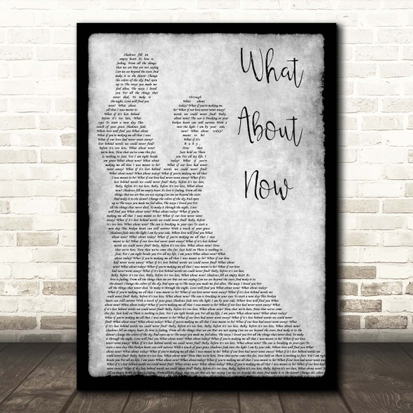 Westlife What About Now Grey Man Lady Dancing Song Lyric Print
